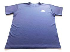 Men's Under Armour Blue Loose Short Sleeve Polyester T-Shirt Size Medium M EUC #UnderArmour #BasicTee