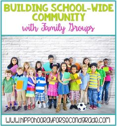 Strengthen your school community by establishing school-wide family groups! Similar to homerooms in high school, a family group consists of students from each grade at your school that travel together as a cohort for their entire time at the school. Teaching Character, Character Education, School Community, Classroom Community, Elementary Teacher, Elementary Schools, School Wide Themes, School Ideas, Dean Of Students