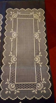 Lapghans Crochet - Basic Embroidery Stitches Embroidery stitch for beginners Crochet Round, Crochet Motif, Hand Crochet, Single Crochet, Crochet Table Runner, Crochet Tablecloth, Diy Crafts Crochet, Crochet Home, Thread Crochet
