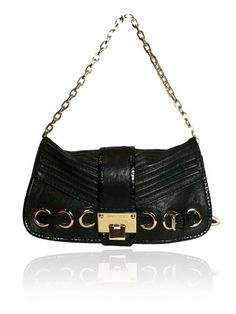 JIMMY CHOO Black Python Leather Bag $1100.00  http://www.boutiqueon57.com/products/jimmy-choo-black-python-leather-bag