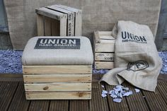 upcycled vintage crate storage box seat by the comfi cottage | notonthehighstreet.com