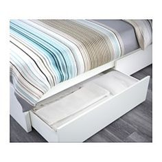 malm high bed frame4 storage boxes white lury