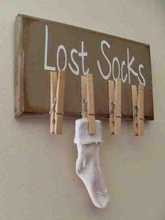 Sehe dir das Foto von Kunstfan mit dem Titel Lustige Idee für die Waschküche und die verlorenen Socken und andere inspirierende Bilder auf Spaaz.de an.