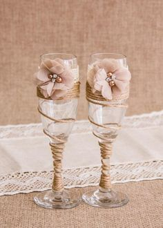 Items similar to Rustic Wedding Set, Burlap Lace Toasting Flutes & Cake Cutting Set, Champagne Glasses Cake Serving Set, Bride and Groom Toasting Glasses on Etsy Wedding Toasting Glasses, Wedding Champagne Flutes, Toasting Flutes, Champagne Glasses, Champagne Color, Diy Wedding Wine Glasses, Best Man Wedding, Wedding Set, Rustic Wedding