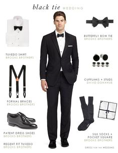 Men's attire for a black tie wedding  - #GroomsAttire #ManlyWedding #WeddingTip (scheduled via http://www.tailwindapp.com?utm_source=pinterest&utm_medium=twpin&utm_content=post3072049&utm_campaign=scheduler_attribution)
