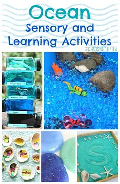 I decided to feature Ocean sensory and learning activities this week. With the beautiful weather, it's easy to be dreaming about an oceanside vacation!