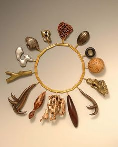 Bruce Metcalf, Rhyme and Pun Necklace II, 2008