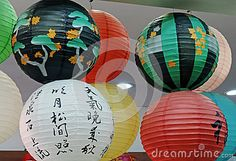 Japanese luminaires with various colors.