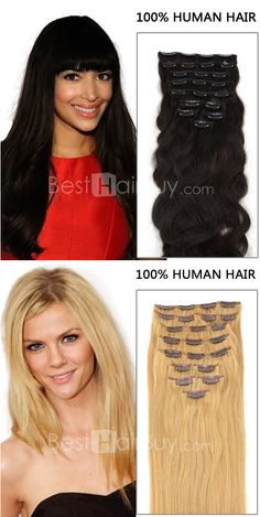Want beautiful long hair in seconds? Now you can! With Remy Clips clip-in hair extensions!