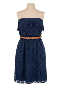 Belted high-low sweetheart lace top dress | Shop maurices ...