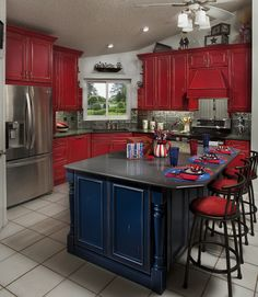 This bold and beautiful #kitchen is a complete remodel #scottsdaleremodel #remodel