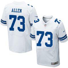 Nike Elite Larry Allen White Men's Jersey - Dallas Cowboys #73 NFL Road