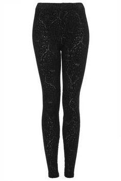 Holiday outfit : detailed semi metallic leggings + a nice top Paisley Burnout Devore Legging