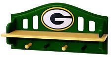 Green Bay Packers Shelf and pegs color matched painted MDF Man Cave Furniture