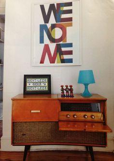 Modern art, mid century furniture