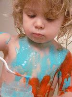 Children's Learning Activities: Tub Painting