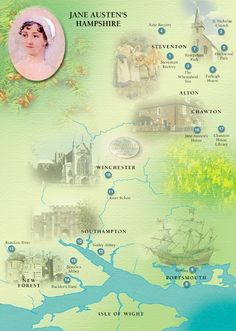 The map above traces Jane Austen's life in Hampshire chronologically but you can plan the itinerary that best suits you. Description from winchesteraustentrail.co.uk. I searched for this on bing.com/images