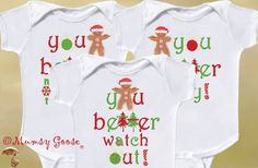 Christmas Sibling Shirts or Funny Triplets Christmas by MumsyGoose, $44.50