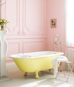 pembe banyo dekorasyonu modelleri 2018