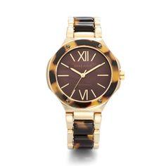 Anne Klein: Watches > Tortoise & Horn > Goldtone Tortoise Bangle Watch