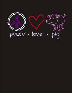 This is definitely a one of a kind rhinestone design!  I have made a few of these for moms that help their kids show pigs!  from Your Signatures