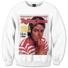 Michael Jackson Sweatshirt - Michael Jackson Shirt - Michael Jackson... ($25) ❤ liked on Polyvore