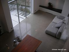 Residential Polished Concrete - Living Room