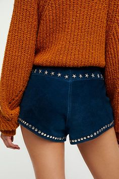 Understated Leather Paris Texas Shorts at Free People