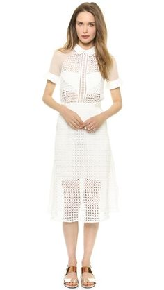 Self Portrait white dress from Shopbop
