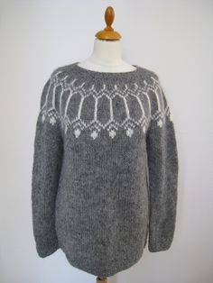 "Handmade Icelandic wool sweater or ""Lopapeysa"" as we call it, knitted in Iceland. by KnittingDidi on Etsy Icelandic Sweaters, Wool Sweaters, Sweater Making, Custom Made, This Is Us, How To Make, How To Wear, Men Sweater, Pullover"