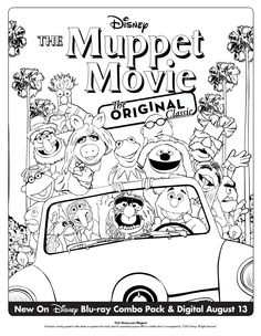 Get your family ready for The Muppet Movie Nearly 35th Anniversary Edition Blu-ray Combo Pack with this coloring sheet!