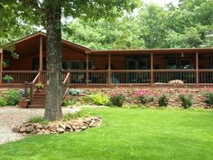 A 2002 lake side double wide received a complete rustic cabin manufactured home remodel and becomes a log cabin dream home. Mobile Home Porch, Mobile Home Exteriors, Mobile Home Renovations, Mobile Home Makeovers, Mobile Home Living, Remodeling Mobile Homes, Home Remodeling, Bathroom Remodeling, Cottage