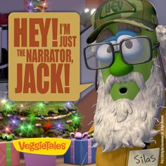 #SiRobertson as Silas the Okra is the narrator in #MerryLarry and the True Light of Christmas!