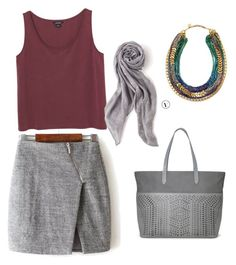 """""""Mini grey"""" by gosiawillemse on Polyvore featuring Monki, Stella & Dot, women's clothing, women, female, woman, misses and juniors"""
