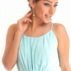 Rachana Reddy - #Earrings  #Metal #Lace #pearls #rachanareddy #india #fashion  Shop here:www.rachanareddy.com