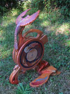 Phoenix wheel - beautifully individualized Olympic Spinning Wheels.