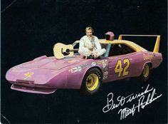 Marty Robbins was a successful Country-Western singer who raced NASCAR as a hobby. Scan from Bill Eichelberger