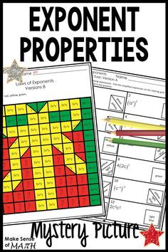 Christmas Math Activity Worksheets - Laws of Exponents Christmas Math Worksheets, 1st Grade Worksheets, Printable Worksheets, Ninth Grade, 8th Grade Math, Seventh Grade, Fun Math Activities, Middle School Writing, Math Lesson Plans