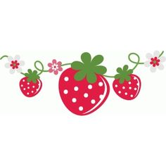 Silhouette Design Store - View Design strawberry vine with flowers Strawberry Clipart, Strawberry Baby, Strawberry Shortcake Party, Strawberry Ideas, Vinyl Projects, Craft Projects, Strawberry Pictures, Baby Mickey, Baby Invitations