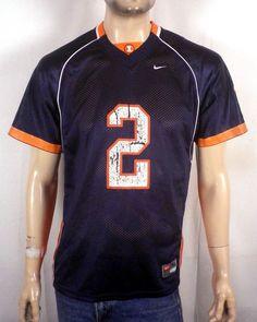 vtg 90s Nike Illinois Fighting Illini #2 Football Jersey NCAA youth XL
