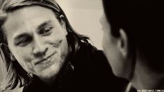Pin for Later: The Hands-Down Hottest Jax Teller Moments on Sons of Anarchy Can you handle how he smiles as he talks to Tara?