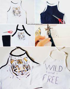 Opinando Moda: Transformando camisetas em cropped tops para o verão