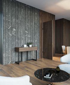 Doors & panels on Behance Wall Panel Design, Wall Tiles Design, Office Interior Design, Interior Decorating, Wall Cladding Interior, Formal Living Rooms, Panel Doors, Bedroom Wall, Interior Inspiration
