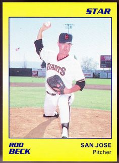SAN JOSE GIANTS 1989 THE STAR COMPANY ROD BECK NMMT CONDITION FREE SHIPPING #sfgiants #SanFranciscoGiants
