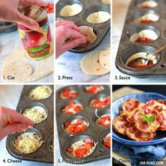 Pizza in a muffin pan