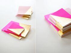 1 - Un carnet girly rose et d'or à faire soi-même