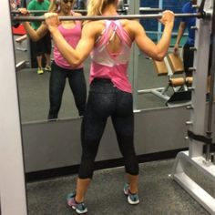 Smith Machine Jump Squats. (No weight on the bar). 3 sets of 20-25