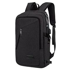 Yorepek Slim Laptop Backpack, Business Computer Bag with Headphone Port, Anti Theft Travel Backpacks with USB Charging Hole for College, Fits 15 15.6 inch Laptop / Notebook, Black. Amazon.com  #bag #backpack #briefcase #clothing #style #fashion #school #sports #outdoors #fun #kids