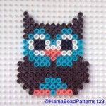 Hama bead owl by by tina Hama Beads Design, Diy Perler Beads, Perler Bead Art, Pearler Beads, Melty Bead Patterns, Pearler Bead Patterns, Perler Patterns, Beading Patterns, Pixel Art