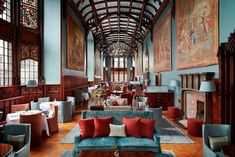 Adare Manor, the romantic Victorian mansion in County Limerick, Ireland, isn't a stranger to reinvention. It began life as Adare. Top Hotels, Best Hotels, Fine Hotels, Stucco Ceiling, Adare Manor, Leading Hotels, Cozy Place, Country Estate, Menu Design